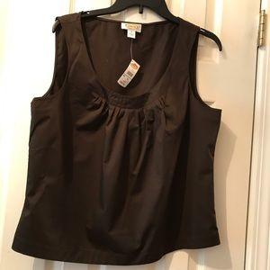 Talbots sleeveless brown top